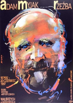 Adam Myjak, Sculptures Waldemar Świerzy Polish exhibition poster