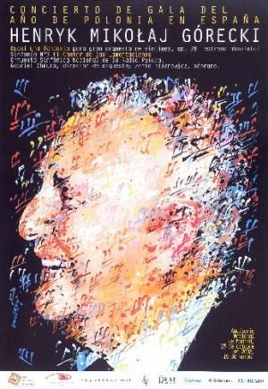 Henryk Mikołaj Górecki Waldemar Świerzy Polish music poster