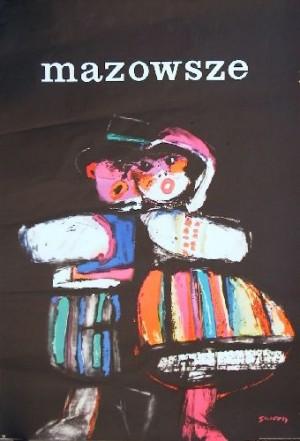 Mazowsze Folk ansamble Waldemar Świerzy Polish music poster