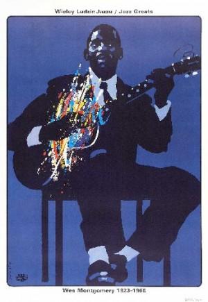 Wes Montgomery - Jazz Greats Waldemar Świerzy Polish music poster