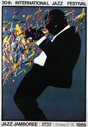Jazz Jamboree 1988 Waldemar Świerzy Polish music poster