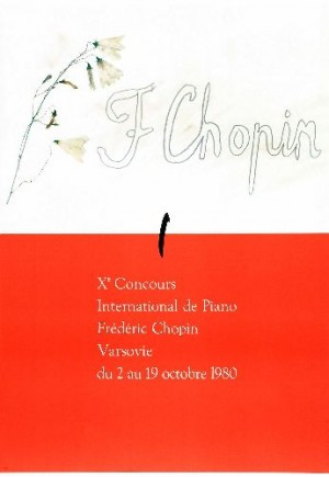 Chopin Piano Competition, 10th Henryk Tomaszewski Polish music poster