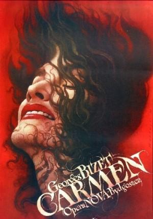 Carmen Wiesław Wałkuski Polish opera poster