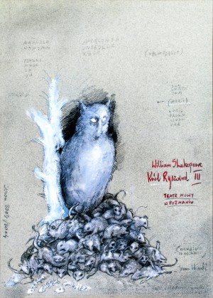 Tragedy of King Richard the Third Janusz Wiśniewski Polish theater poster