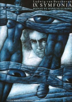 Ludwig van Beethoven, IX Symphony Leszek Wiśniewski Polish music poster
