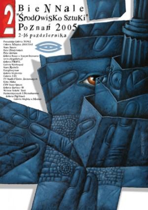 Biennale. Art society Poznań Leszek Wiśniewski Polish exhibition poster