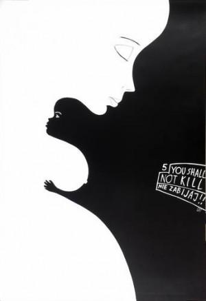 5th - You shall not kill Leszek Żebrowski Polish poster art
