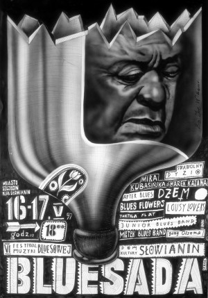 Bluesada - Blues festival Leszek Żebrowski Polish music poster