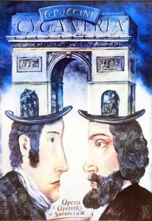 La Boheme Leszek Żebrowski Polish opera poster