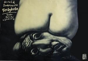 Ferdydurke Witold Gombrowicz Leszek Żebrowski Polish Poster