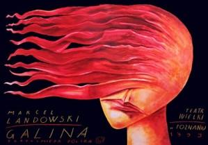 Galina Leszek Żebrowski Polish opera poster