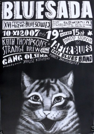 Bluesada XVI Leszek Żebrowski Polish music poster