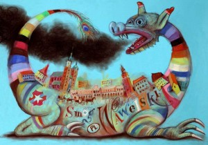 Wawel Dragon Cracow Smog Wawelski   Polish Poster