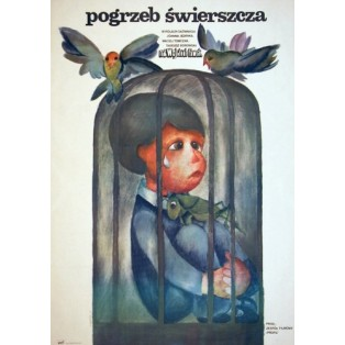Funeral of the cricket Wojciech Fiwek Hanna Bodnar Polish Film Posters