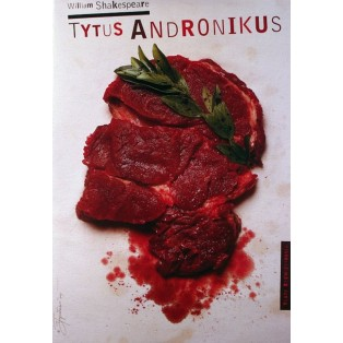 Titus Andronicus Tomasz Bogusławski Polish Theater Posters