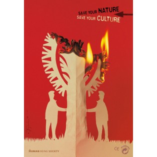 Save Your Nature, Save Your Culture Tomasz Bogusławski Polish Exhibition Posters