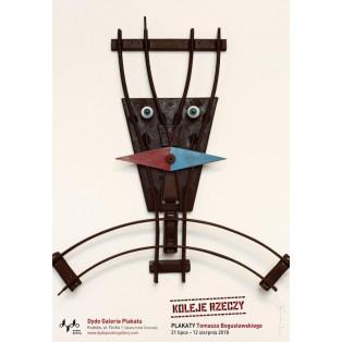Koleje rzeczy Tomasz Bogusławski Polish Exhibition Posters