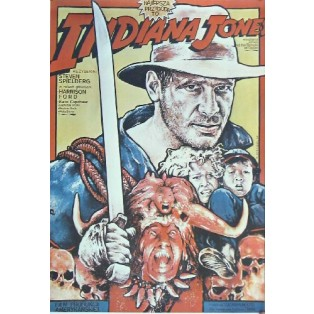 Indiana Jones and the temple of doom Steven Spielberg Witold Dybowski Polish Film Posters