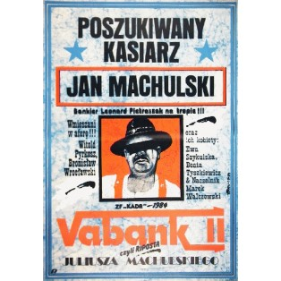Vabank II, Point of No Return Juliusz Machulski Jakub Erol Polish Film Posters