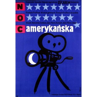 Day for Night, The American Night Jerzy Flisak Polish Film Posters