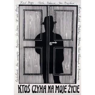 Pokus o vraždu Jerzy Flisak Polish Film Posters