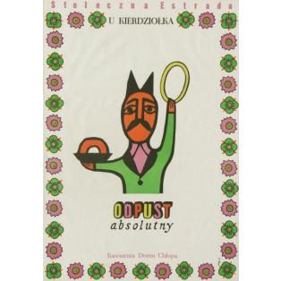 U Kierdziołka Odpust absolutny Jerzy Flisak Polish Poster Art Advertising Tourism Travels Political Sport Judaica Posters