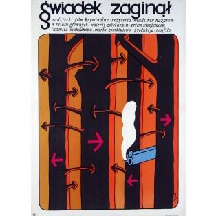Propazha svidetelya Jerzy Flisak Polish Film Posters