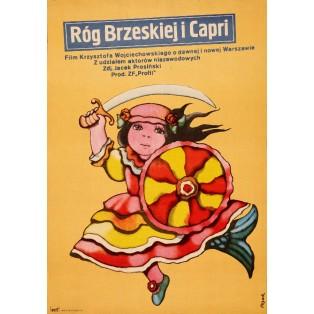 Róg Brzeskiej i Capri Jerzy Flisak Polish Film Posters