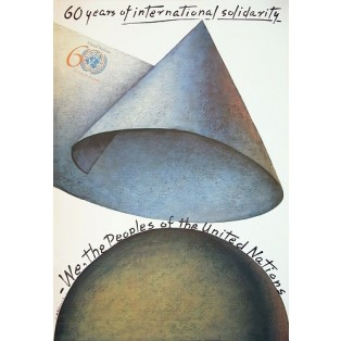 60 years of international solidarity Mieczysław Górowski Polish Poster Art Advertising Tourism Travels Political Sport Judaica Posters