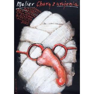 Imaginary Invalid Moliere Mieczysław Górowski Polish Theater Posters