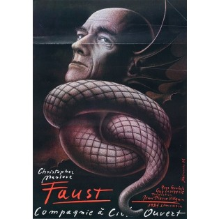 Doctor Faustus, Christopher Marlowe Mieczysław Górowski Polish Theater Posters