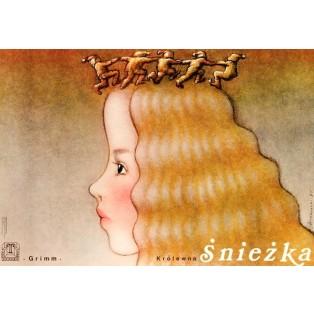 Snow White Mieczysław Górowski Polish Theater Posters