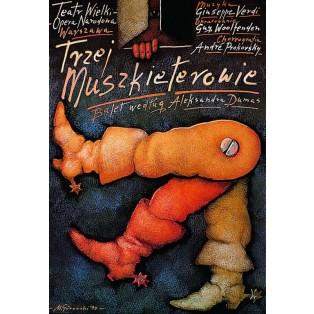 Three Musketeers Mieczysław Górowski Polish Theater Posters