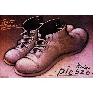 On foot Sławomir Mrożek Mieczysław Górowski Polish Theater Posters