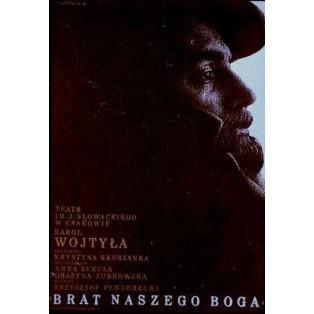 Brother of our God, Karol Wojtyła Mieczysław Górowski Polish Theater Posters