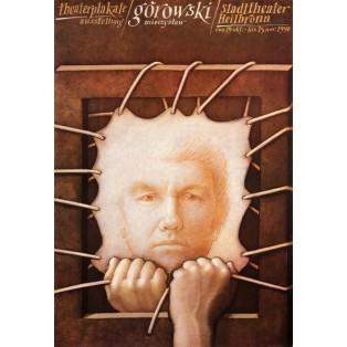 Theatre poster Heilbornn Mieczysław Górowski Polish Theater Posters