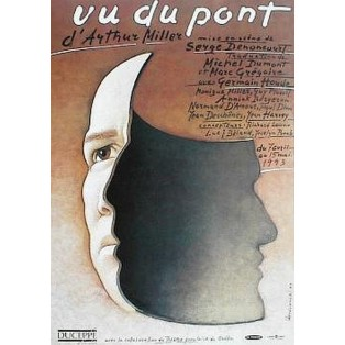 Vu du pont Mieczysław Górowski Polish Theater Posters