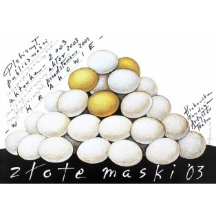 Golden Masks 2003 Mieczysław Górowski Polish Poster Art Advertising Tourism Travels Political Sport Judaica Posters
