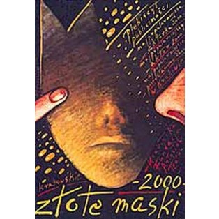 Golden Masks 2000 Mieczysław Górowski Polish Poster Art Advertising Tourism Travels Political Sport Judaica Posters