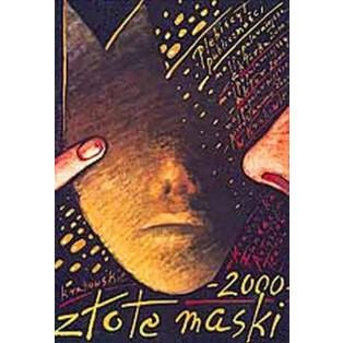 Golden Masks 2000 Mieczysław Górowski Polish Poster Art Advertising Tourism Travels Political Sport Judaica Posters