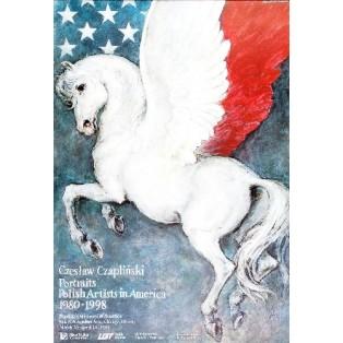 Czesław Czapliński - Portraits Polish artists in America Wiesław Grzegorczyk Polish Exhibition Posters