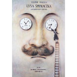 Bald Soprano Wiesław Grzegorczyk Polish Theater Posters
