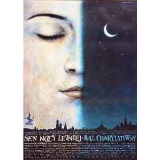Midsummer Night's Dream. Beneficent Ball Wiesław Grzegorczyk Polish Poster Art Advertising Tourism Travels Political Sport Judaica Posters