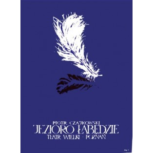 Swan Lake Pyotr Tchaikovsky Ryszard Kaja Polish Theater Posters
