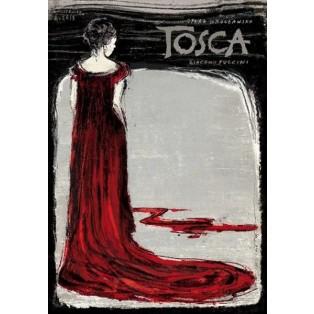 Tosca Puccini Tosca Ryszard Kaja Polish Opera Posters