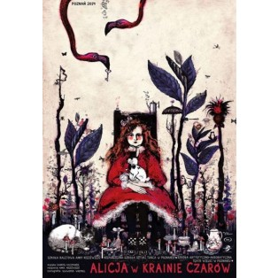 Alice in Wonderland Ryszard Kaja Polish Theater Posters