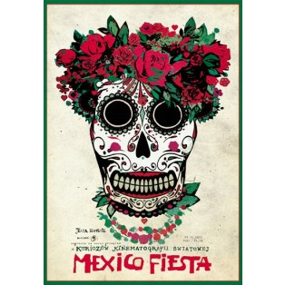 Mexico fiesta  Ryszard Kaja Polish Poster Art Advertising Tourism Travels Political Sport Judaica Posters