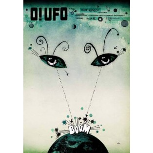 O! UFO Ryszard Kaja Polish Poster Art Advertising Tourism Travels Political Sport Judaica Posters