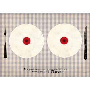 Kannibal fast-food Ryszard Kaja Polish Theater Posters