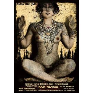 Kaja Renkas Posters Birma Ryszard Kaja Polish Exhibition Posters